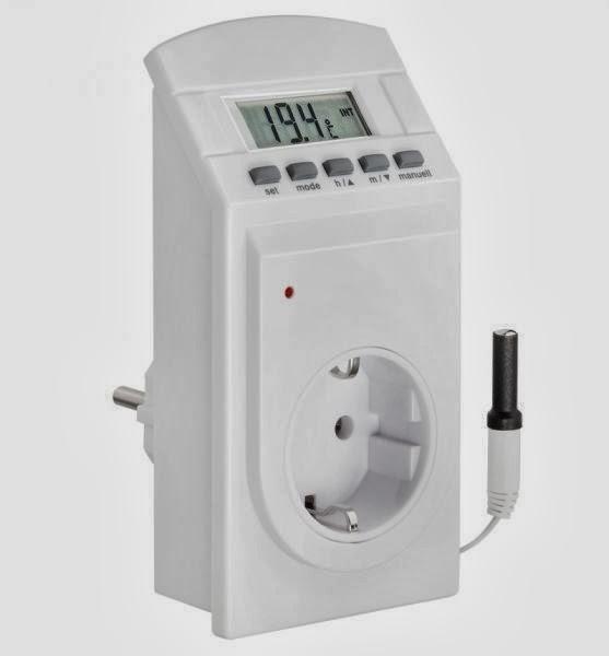 Jard n solar programador digital de horario con termostato for Temporizador digital enchufe