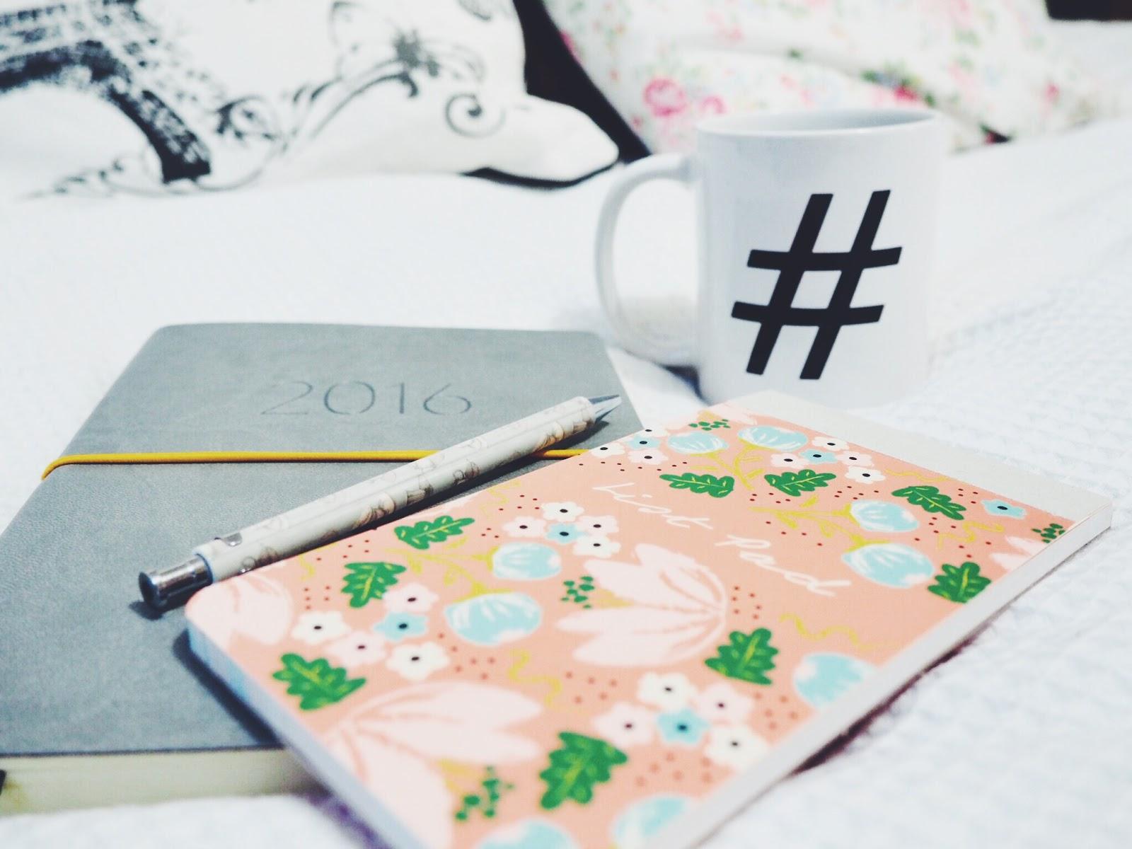 My 2016 blogging 'to-do' list.