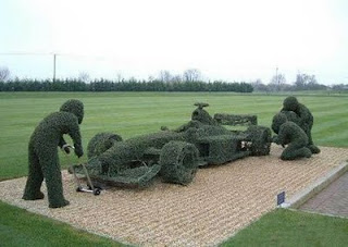 Grass Sculpture of Formula 1
