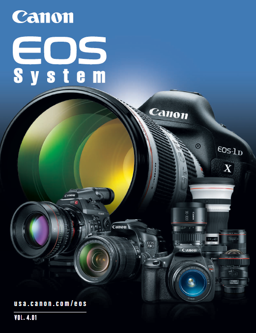 Download the Canon EOS Camera / Lens System PDF Brochure Vol 4.01