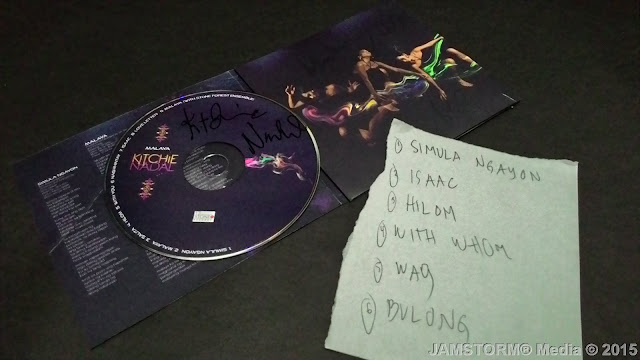 Signed Malaya Album and Set List from the Show.