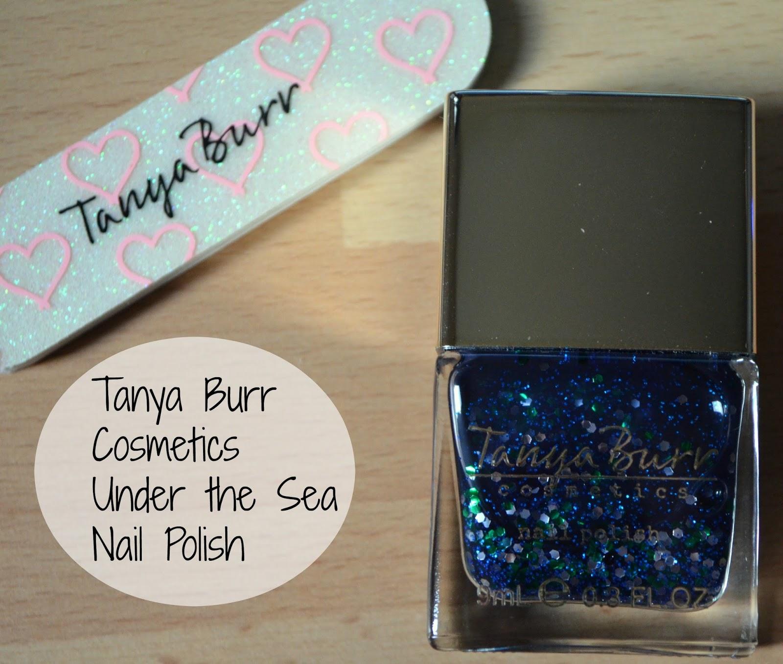 Laura likes beauty: Tanya Burr cosmetics under the sea nail polish
