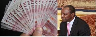 Argent-Alpha condé-corruptionè--Guinée-Palabre-infos