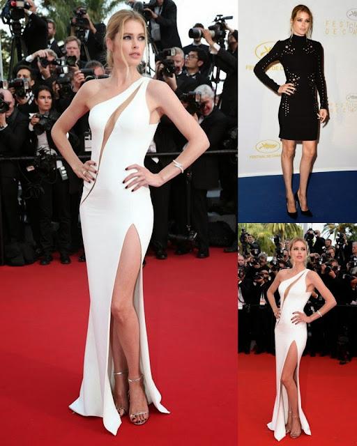 Cannes 2015: Doutzen Kroes walk on red carpet in white dress