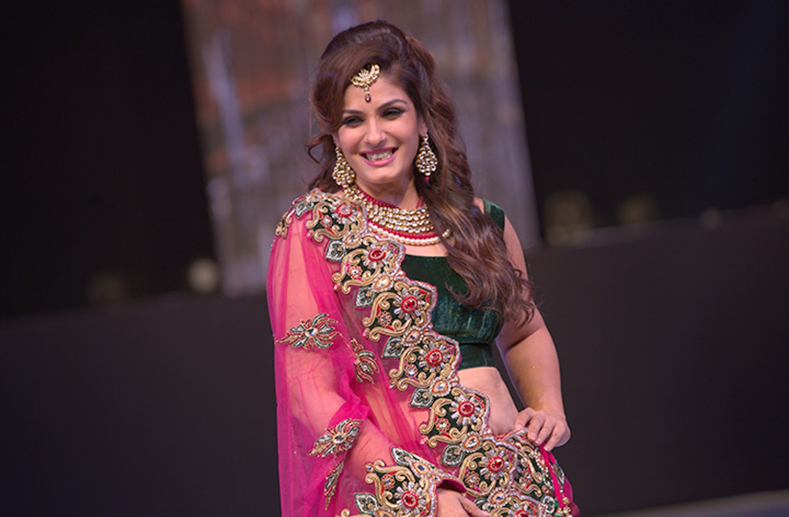 Raveena Tandon Ramp Walks Asif Shah's Fashion Show