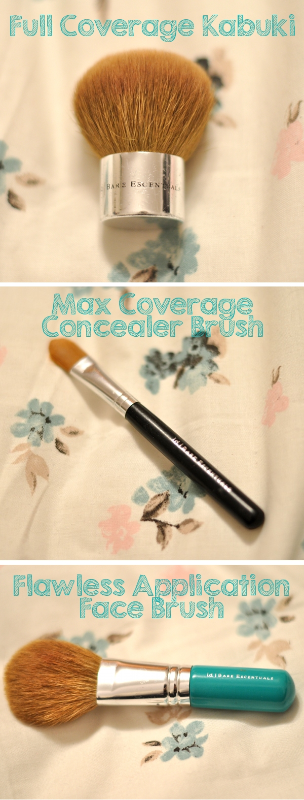 bareescentuals bareminerals kabuki concealer and flawless face brush review
