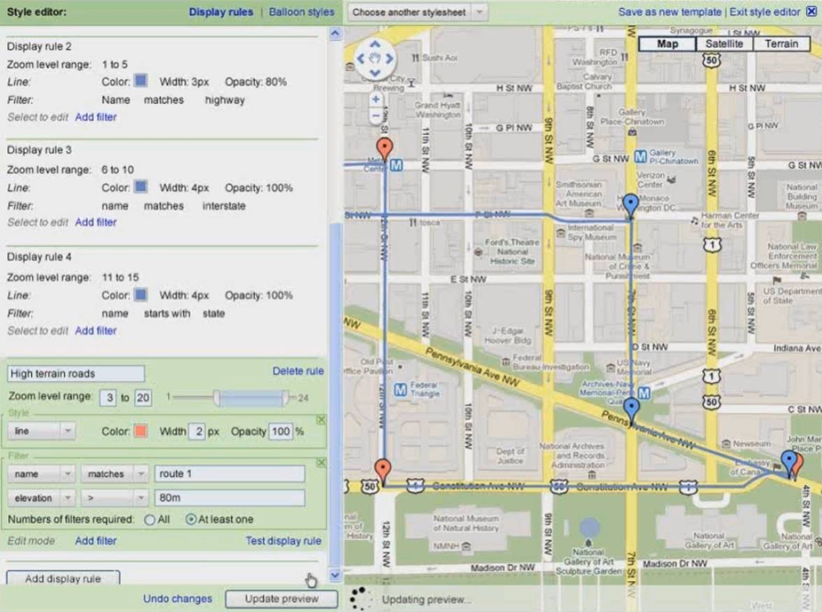dynamic styling of your geospatial data