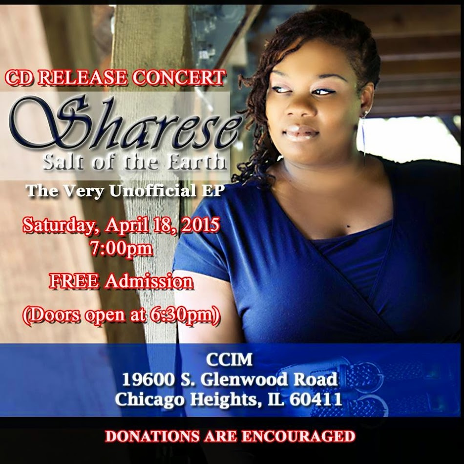"""Sharese """"Salt Of The Earth"""" CD Release"""