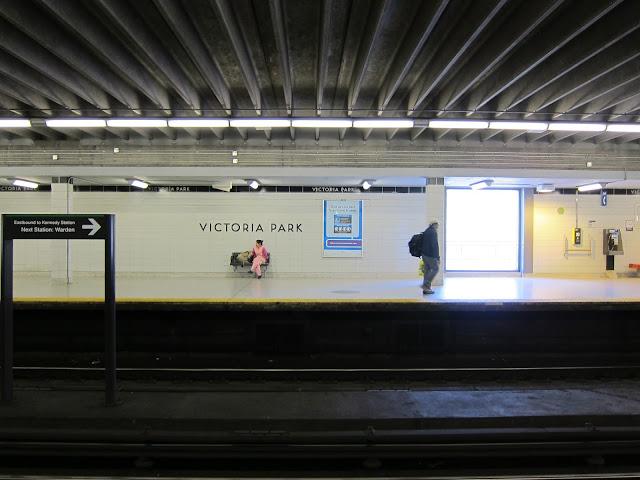 Victoria Park subway platform
