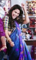 Vaani kapoor dancing in blue transparent saree