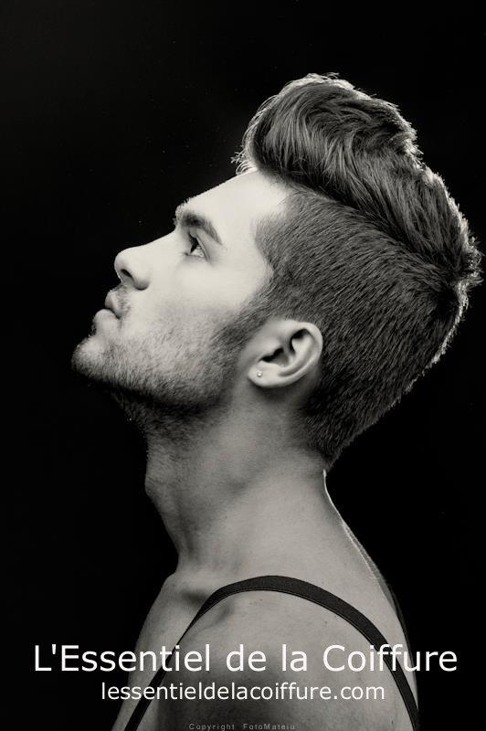 coiffure homme court sur les cotes long dessus 2012