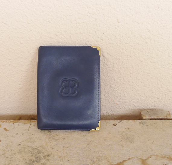 vintage balenciaga leather wallet