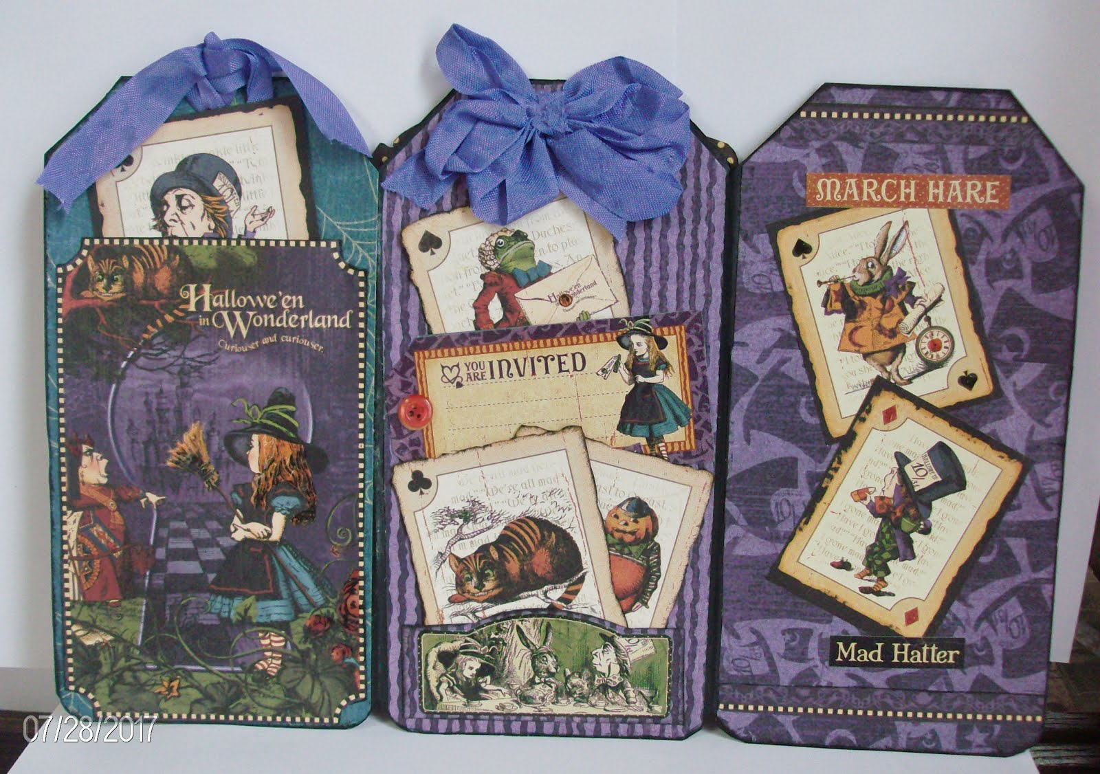 Halloween in Wonderland Tag Book