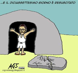 Marino, dimissioni, vignetta, satira