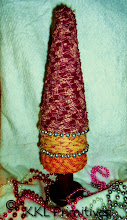 3 TIERED RAG TREE - RED, CREAM AND PINK