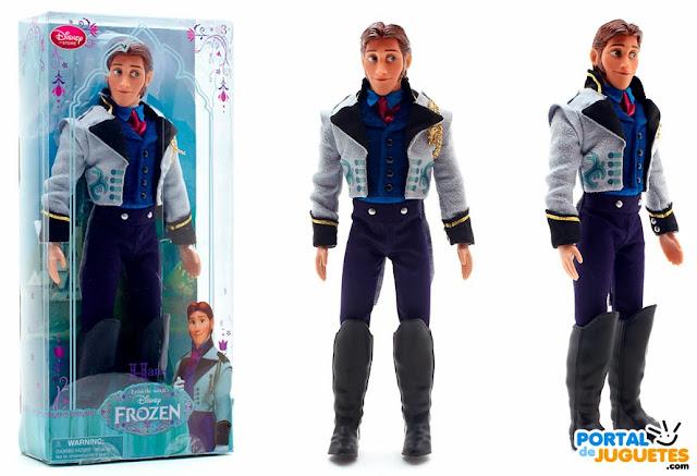 muñeco hans de frozen caja y posado