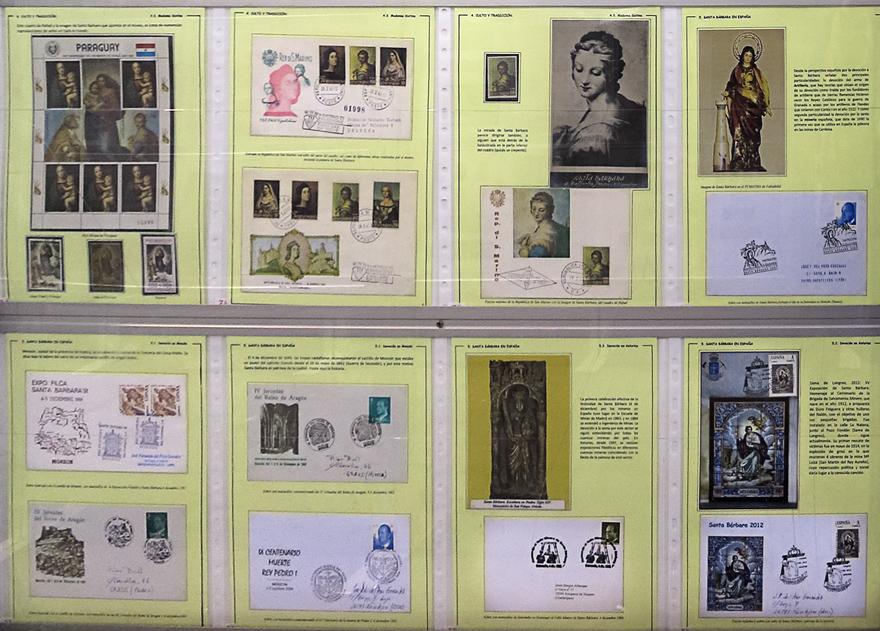 Colección filatélica sobre santa Bárbara