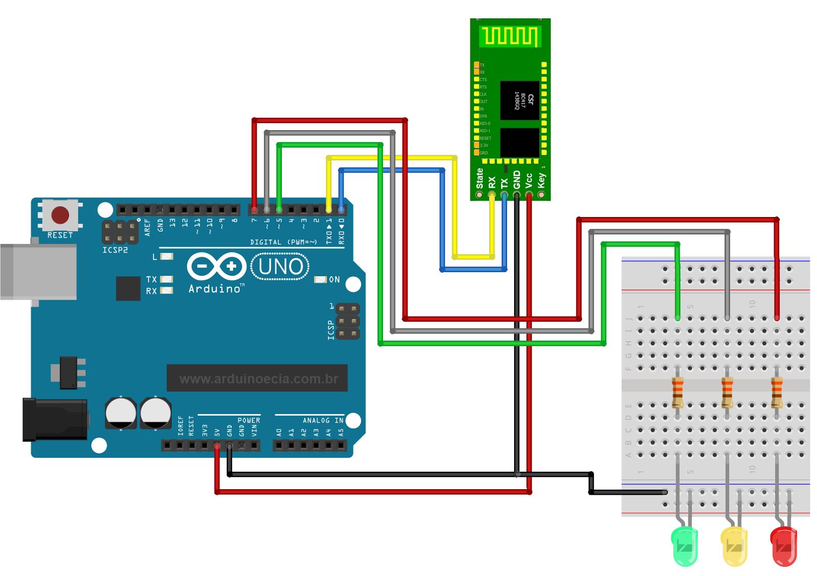 arduino - Lighting LED using keypad and microcontroller