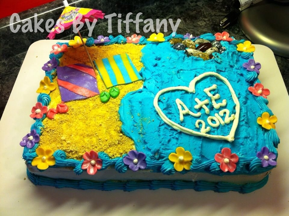 the cake itself is chocolate buttercake with vanilla buttercream icing congratulations to alex elizabeth have fun in hawaii