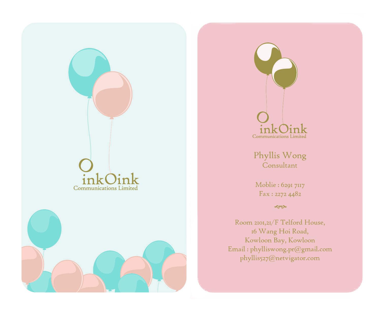Rocksteddy Profile: Oink Oink Name Card Design