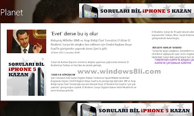 windows 8 hürriyet haber uygulaması