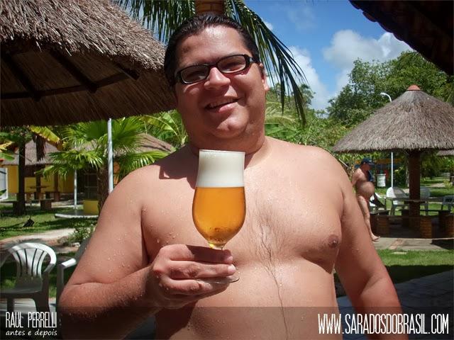 Raul abandonou maus hábitos alimentares para perder a barriga.