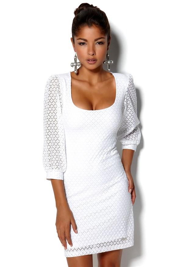 vit klänning rea