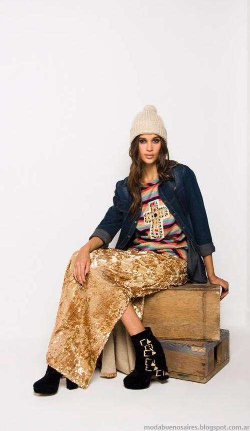 Doll Store otoño invierno 2014 moda invierno 2014 maxifaldas.