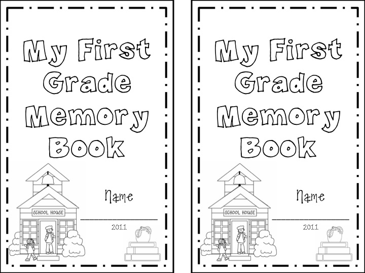 First Grade Memory Book Give Away