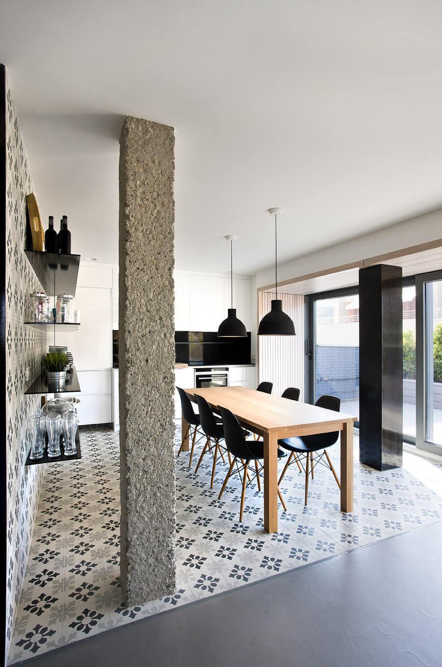 Stile urbano contemporaneo per un appartamento spagnolo for Arredamento in spagnolo