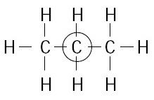 Atom karbon yang dilingkari, atom karbon sekunder