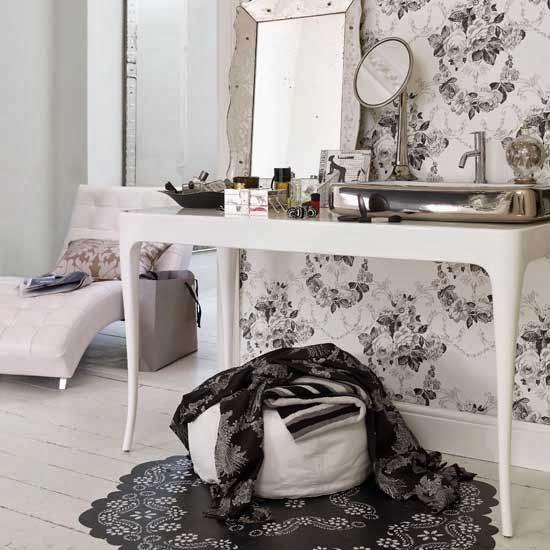 Papel pintado baño