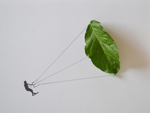 Tang Chiew Ling illustrations design fashion lyrical leaf leaves nature Paraglider