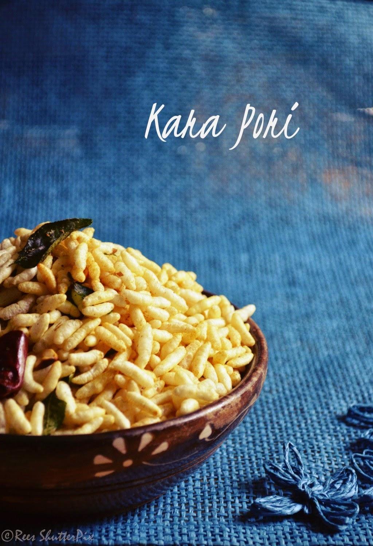 kara pori,kara pori recipe,masala kara pori,make kara pori,how to make masala kara pori,beach style pori,beach style pori kadalai,how to prepare kara pori,spicy murmura,spicy puffed rice