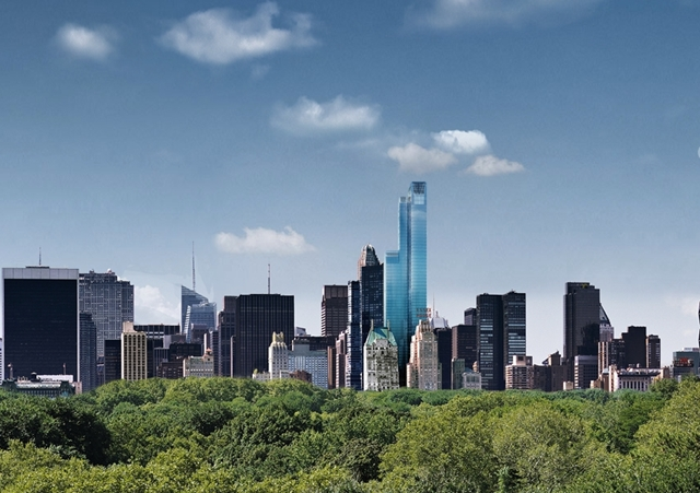 Photo of One57 rising above the Central Park
