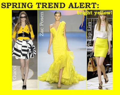 spring 2008 yellow fashion trend