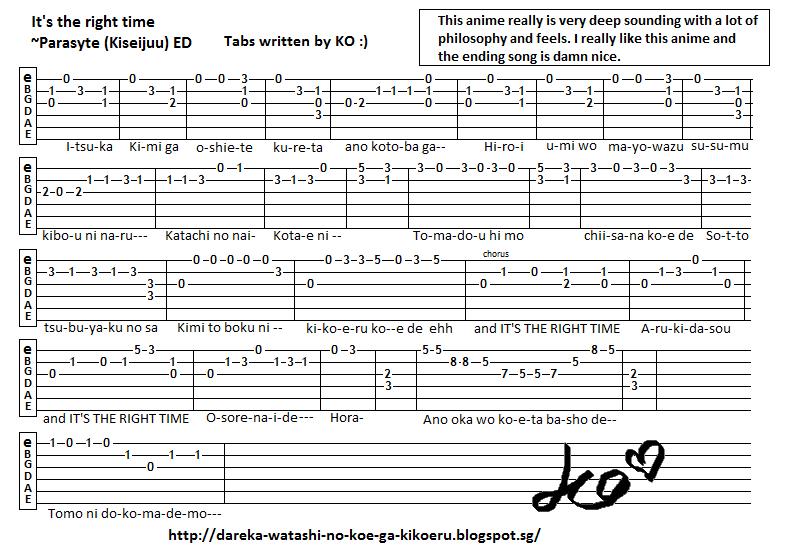 Guitar : guitar tabs anime Guitar Tabs Anime as well as Guitar ...