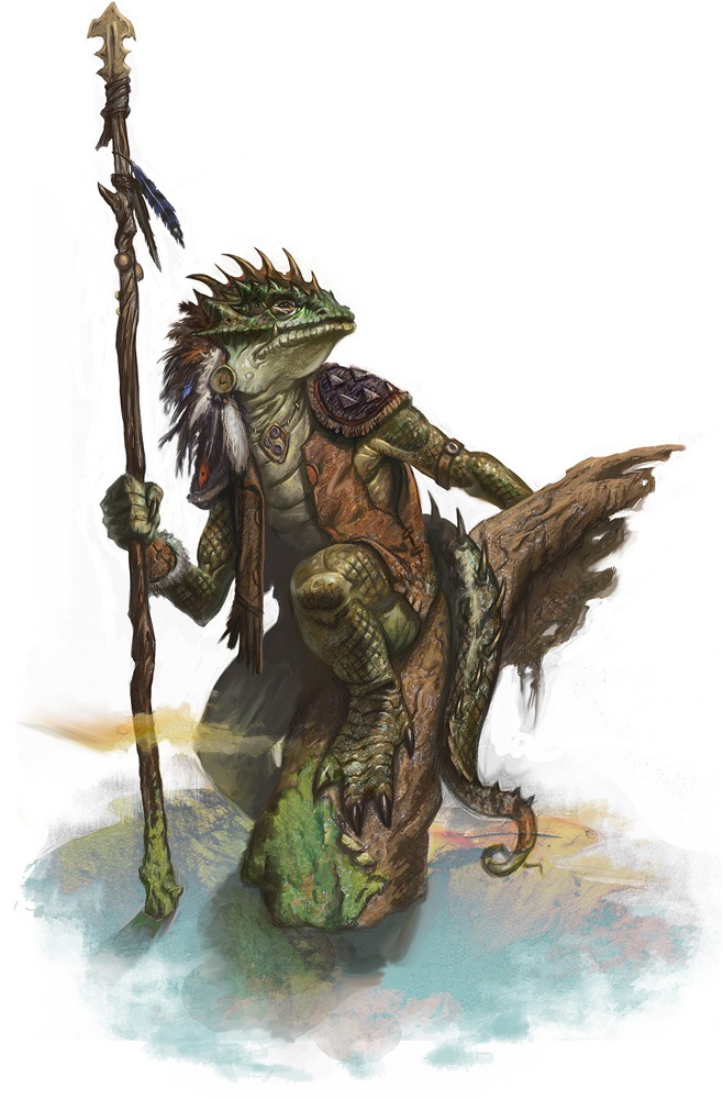 Lizardfolk    10 RP  Proud and powerful reptilian humanoids living    Lizardfolk In Armor