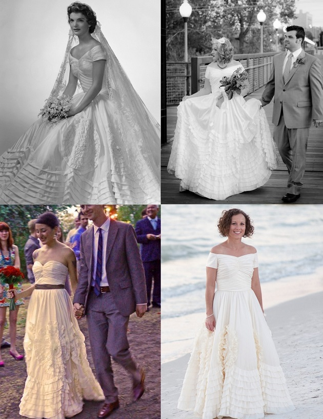Erin coleman jackie kennedy wedding dress replica for Jackie kennedy wedding dress