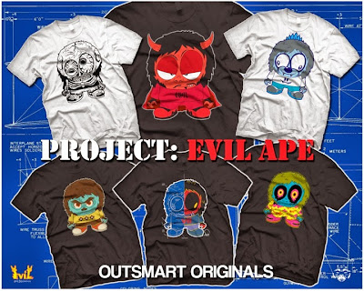 New York Comic Con 2013 Exclusive Project Evil Ape T-Shirt Collection by outsmART Originals x MCA - L'amour Supreme, MCA, Evoker, Scott Tolleson, Sergio Mancini & Oliver Hibert