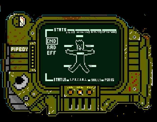 Fallout pipboy pixelart template