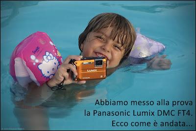 Fotografia della Panasonic FT4 in acqua