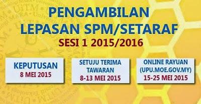 Semakan Keputusan Program Asasi Dan Diploma UiTM Jun 2015 Online