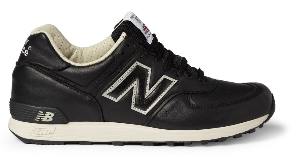 new balance 576 black leather sneakers news online. Black Bedroom Furniture Sets. Home Design Ideas