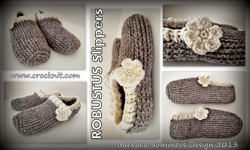 crochet slippers man robustus