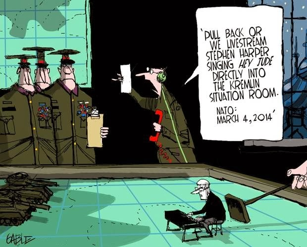 Brian Gable: Stephen Harper singing 'Hey Jude' as WMD.