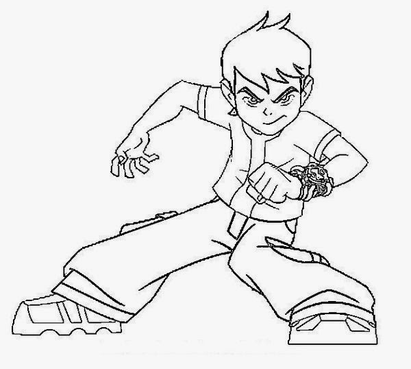For Kids Ben 10 Coloring Pages - Free Coloring Sheet | New Coloring ...