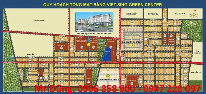 Bán đất nền Việt Sing Bình Dương vị trí trung tâm VSIP 1 ảnh 2