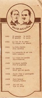 Dúo Ruiz-Acuña 1930