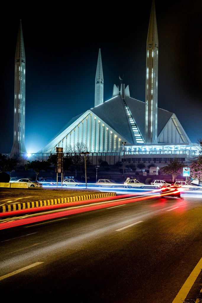King Faisal Mosque, Islamabad, Pakistan.
